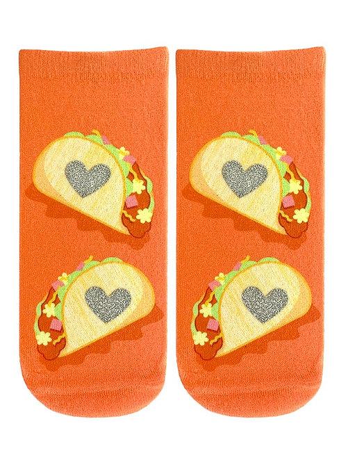 Living Royal Glitter Taco Lover Ankle Socks