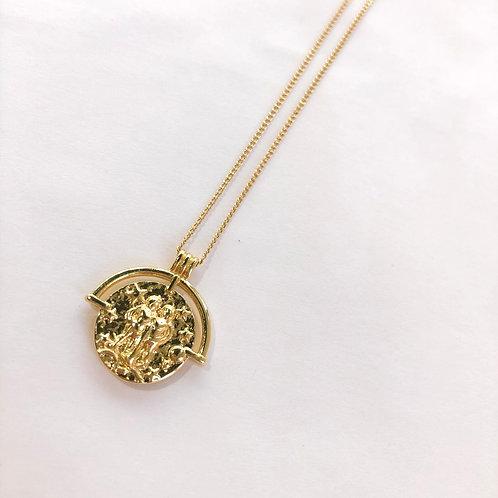 Jocelyn Kennedy Zodiac Sign Necklace- Gold Gemini