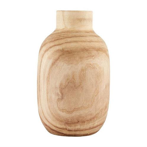Tall Paulownia Wood Vase
