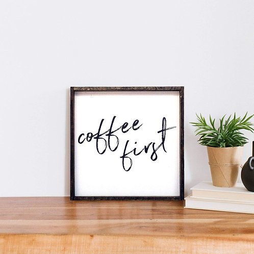 William Rae Coffee First Sign Dark Walnut Frame