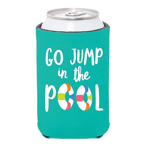 Go Jump in The Pool Can Koozie