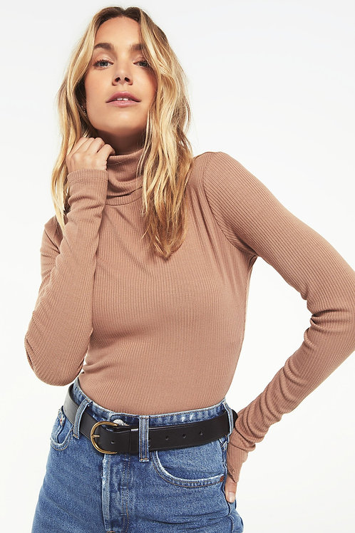 Z Supply Chloe Rib Bodysuit Toast