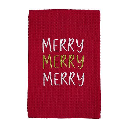 Mudpie Merry Waffle Towel