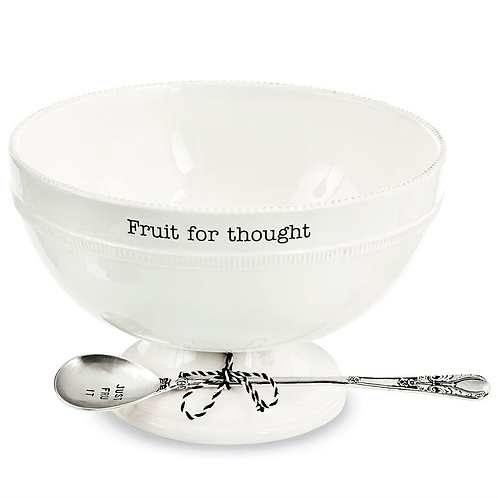 Mudpie Fruit For Thought Bowl
