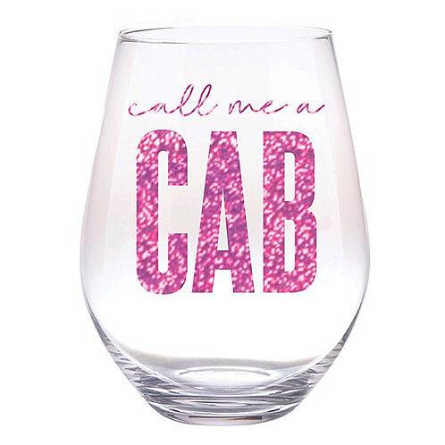 Jumbo Wine Glass- Call Me A Cab