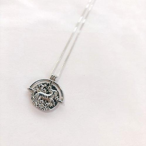 Jocelyn Kennedy Zodiac Sign Necklace- Silver Aries