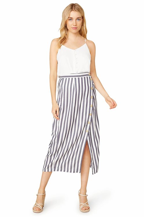 BB Dakota With A Twist Stripe Midi Skirt