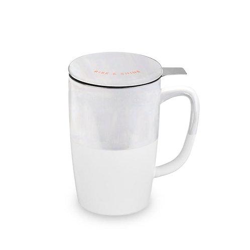 Pinky Up Delia Rise & Shine Tea Mug & Infuser