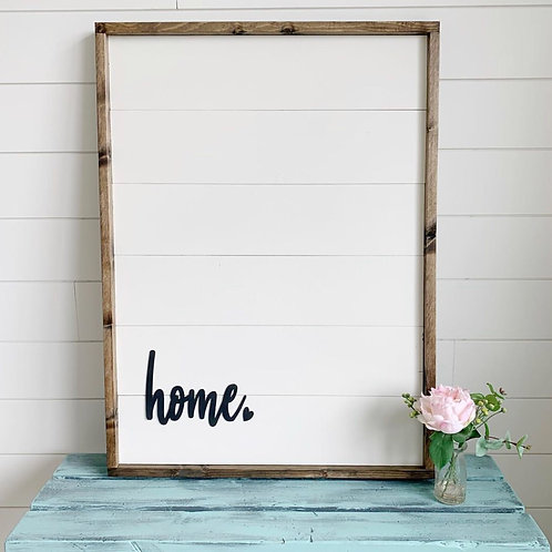 Shiplap Chic Home Wood Sign