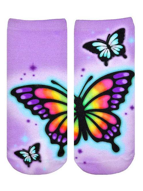 Living Royal Butterfly Airbrush Ankle Socks