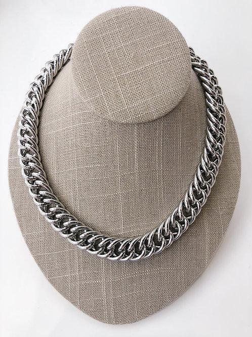 "Jocelyn Kennedy 18"" Chunky Chain Necklace-Silver"