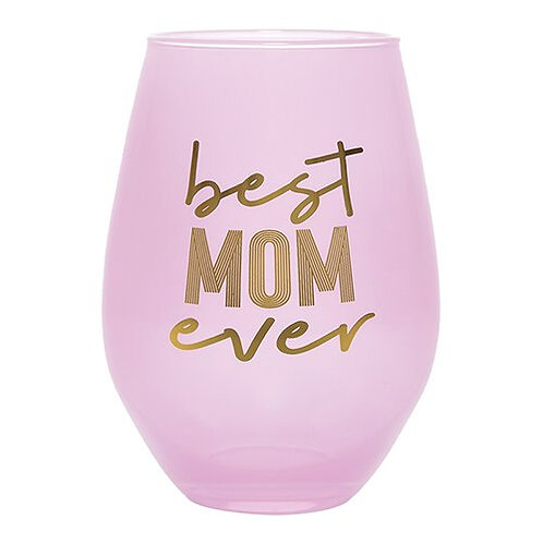 Slant Best Mom Ever Jumbo Stemless Wine Glass