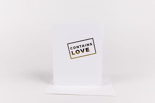 Wrinkle and Crease Contains Love Greeting Card