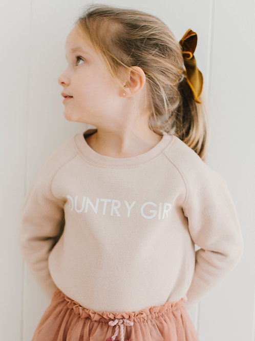 Brunette The Label Country Girl Classic Crewneck Sweatshirt Kids