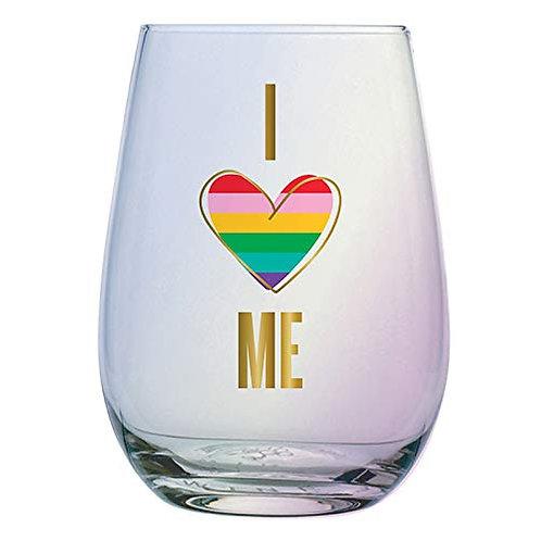 Pride Stemless Wine Glass I Love Me