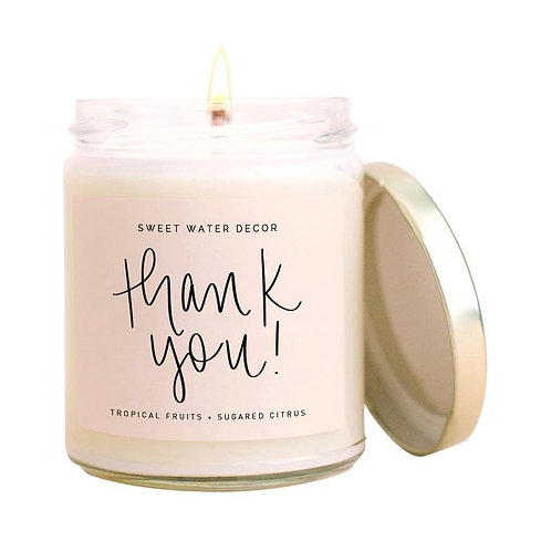 Sweet Water Decor Thank You Candle
