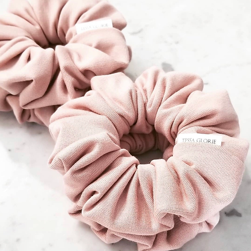 Tessa Glorie Blush Scrunchie
