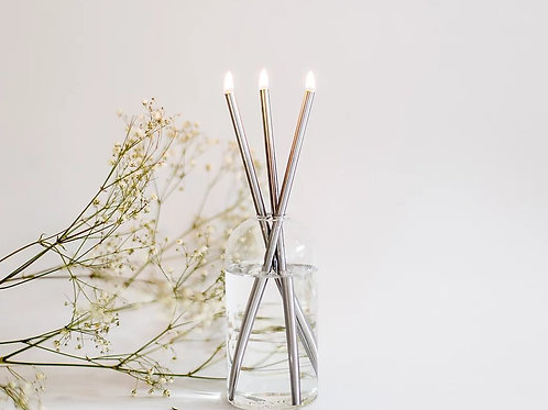Everlasting Candle Set Silver