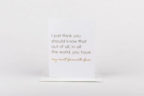 Favorite Face Greeting Card