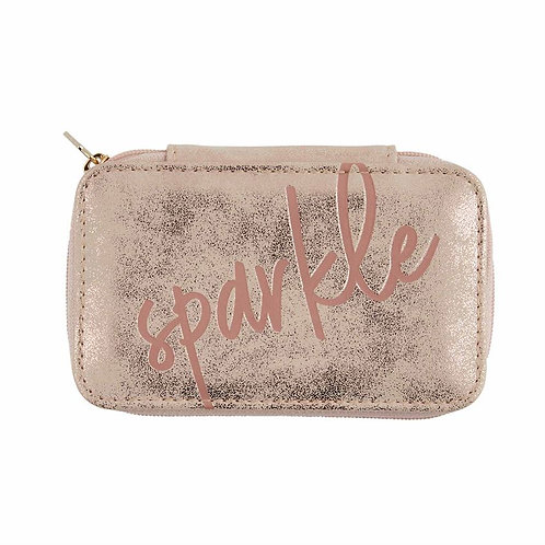 Mudpie Mini Sparkle Gold Jewelry Case