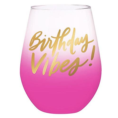 Birthday Vibes Jumbo Glass