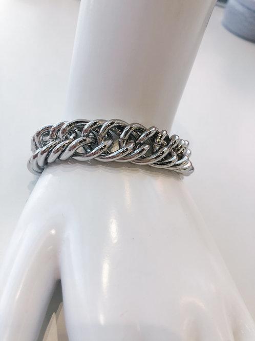 Jocelyn Kennedy Chunky Chain Bracelet- Silver