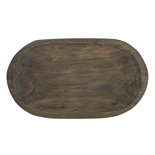 Paulownia Wood Platter Charcoal