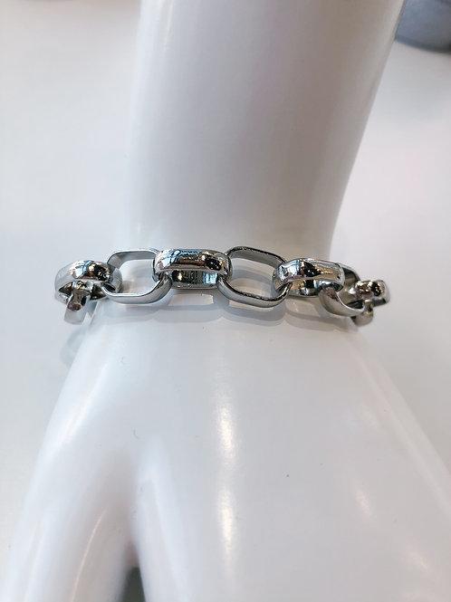 Jocelyn Kennedy Chain Link Bracelet- Silver