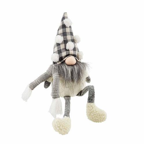 Mudpie Small Checkered Hat Dangle Leg Gnome