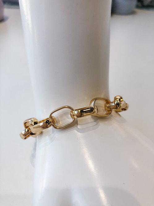 Jocelyn Kennedy Chain Link Bracelet- Gold