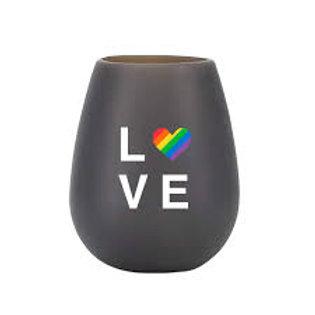 Love Pride Silicone Stemless Wine Glass