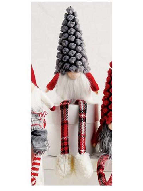 Mudpie Dangle Leg Gnome Small Grey Hat
