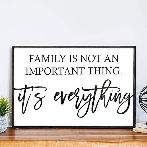 William Rae Family Is Not An Important Thing Wood Sign Ebony Frame