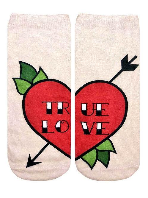 Living Royal Love Tattoo Ankle Socks