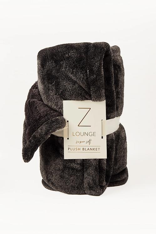 Z Supply Sunday Plush Blanket Charcoal
