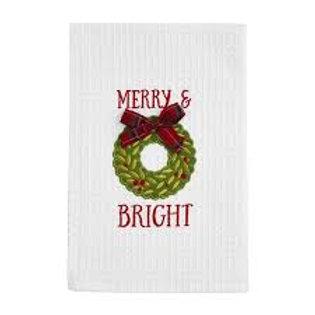 Mudpie Waffle Merry & Bright Towel