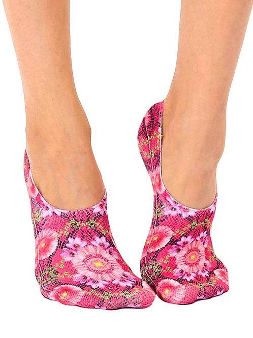 Living Royal Pink Snakeskin Liner Sock