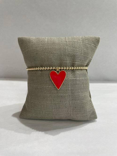 Jocelyn Kennedy Large Enamel Heart 3mm Beads