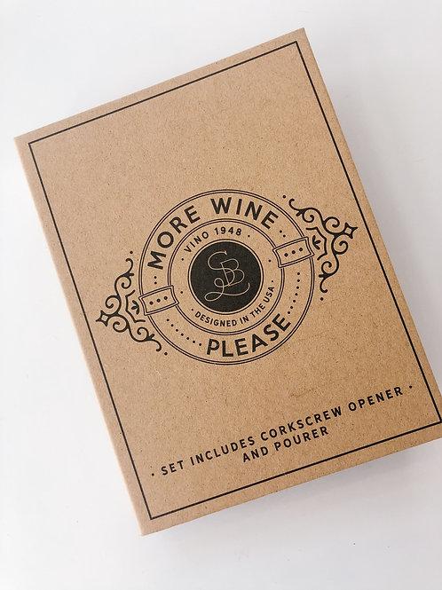 Cardboard Book Set More Wine Please
