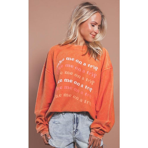 Charlie Southern Take Me On A Trip Corded Sweater