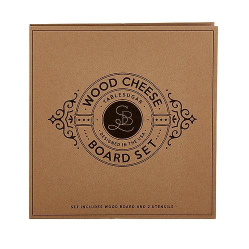 Cardboard Book Set Wood Cheese Board