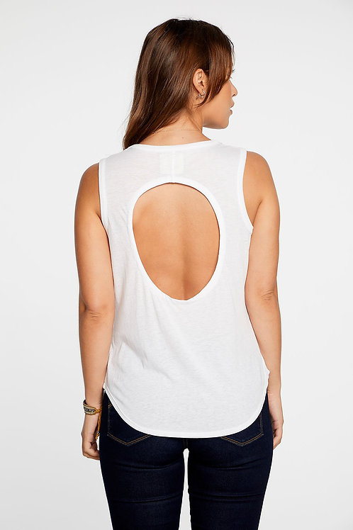 Chaser Brand Vintage Jersey Open Back Muscle Top