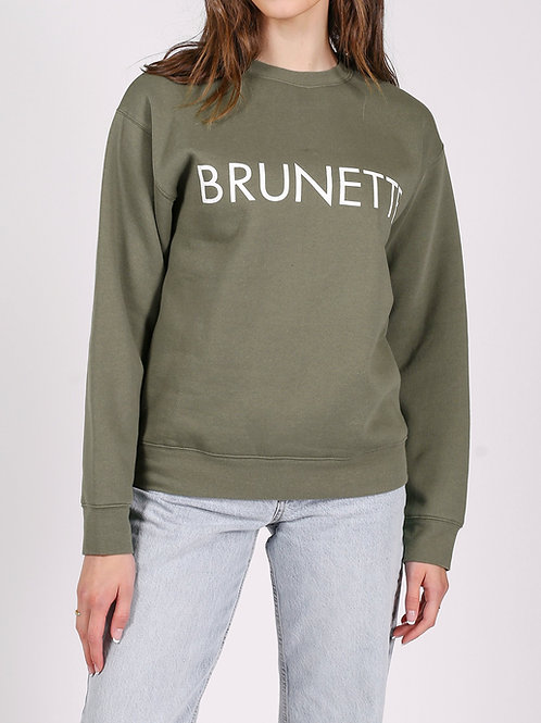 Brunette The Label Brunette Classic Crew Olive