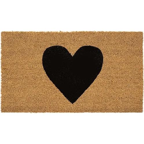 Black Heart Door Mat