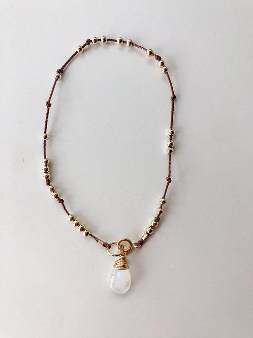 Jocelyn Kennedy Thread & Bead Bracelet- Moonstone