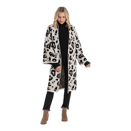 Gwyneth Cardigan - Cream Leopard