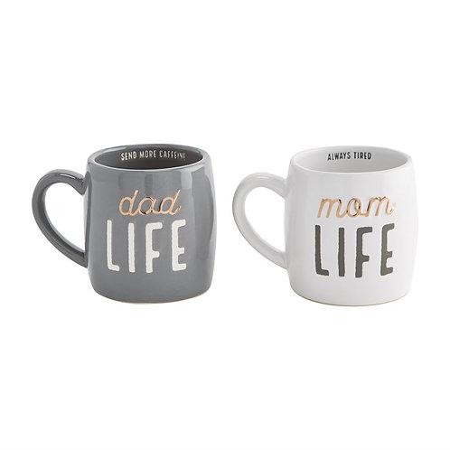 Mudpie Mom Life Dad Life Mug Set