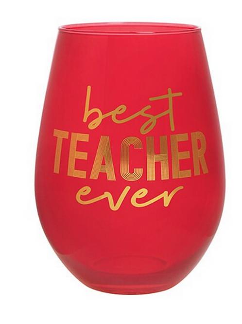 Best Teacher Ever Jumbo Wine Glass