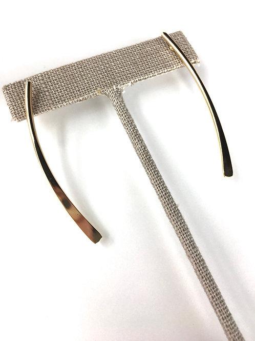 Jocelyn Kennedy Long Gold Earrings