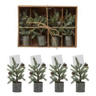 Faux Pine Tree Place Card Holders